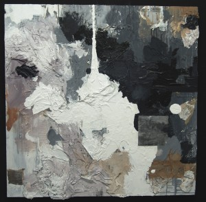 "Chenango, Acrylic, Graphite, Paper on Panel 48"" x 48"" Private Collection"