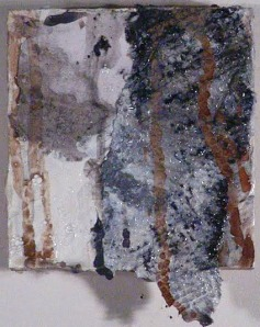 """Wood Study , Mixed Media, 4"""" x4"""" 2012 Private Collection"""