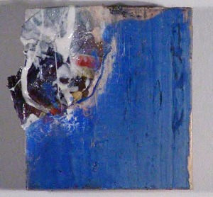 """Wood Study 2, Mixed Media, 4"""" x4"""" 2012 Private Collection"""