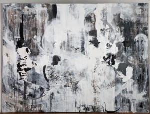 """Return Acrylic and ink on canvas 60""""x96"""" 2012 Collection of the Savannah College of Art and Design"""