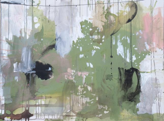 Sun, 36 x 46 Acrylic and Ink on Canvas 2015